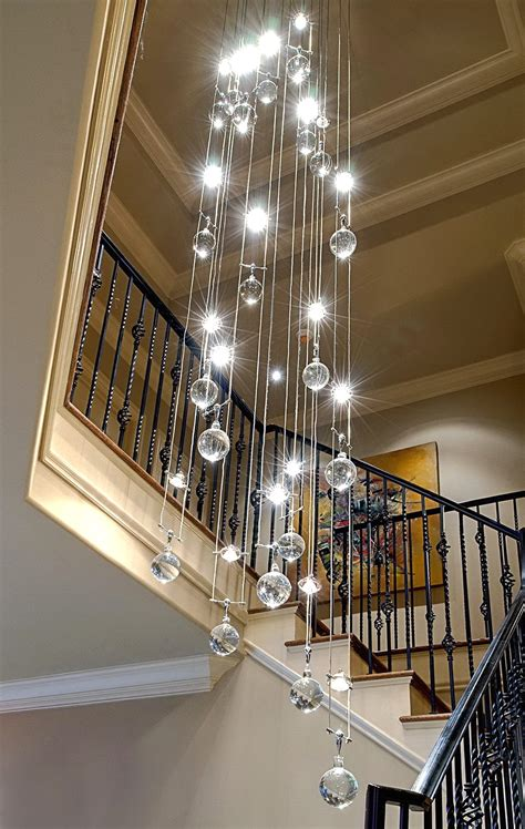 Modern Chandeliers For High Ceilings Otbsiucom Lights
