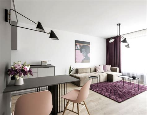 small studio apartment  feminine design interiorzine