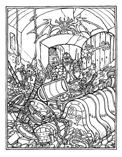advanced coloring books the official advanced dungeons and dragons coloring book