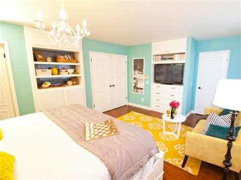 Yellow And Blue Master Bedroom by Photo Page Hgtv