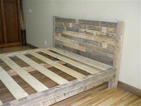 diy making   pallet patio furniture wooden bed