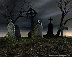 Free Stock Background: Creepy Cemetery by ...