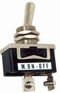 Standard Duty Toggle Switch Momentary On  Off Single Pole