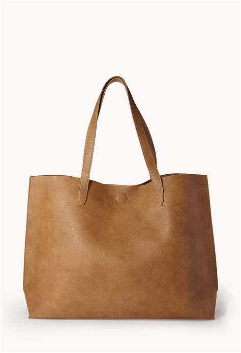 Cooler Bag Model Totte Kode 1 lyst forever 21 everyday faux leather tote in brown