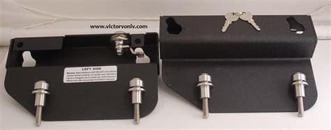 quick release saddle bag bracket kit highball vegas gunner