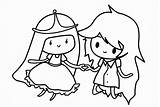 Coloring Cartoon Pages Princess Printable Colors sketch template
