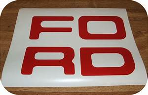 red 87 93 ford pickup truck fleetside bronco tailgate With ford tailgate letters
