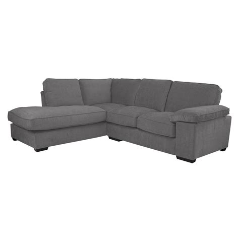 Grey Corner Settee esprit mollo grey corner settee lhf from cargo home
