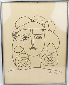 PABLO PICASSO - LITHOGRAPH LINE DRAWING : Lot 39015
