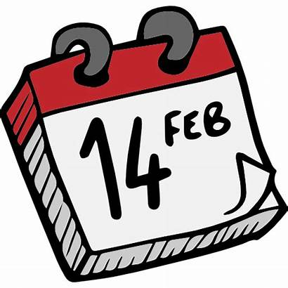 Valentines Icon Calendar February Date Icons Lovely