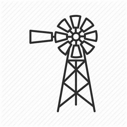 Windmill Farm Wind Mill Icon Propeller Instrument