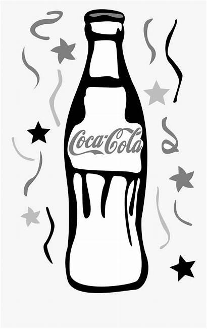Coke Bottle Clipart Coloring Cola Coca Drawing