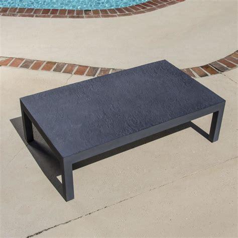 camellia cast aluminum patio coffee table modern