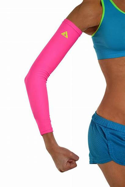 Arm Sleeves Pink Compression Sleeve