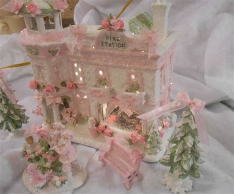 shabby chic home shabby pink lighted