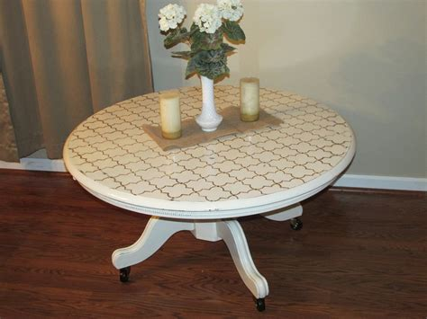Distressed White Round Coffee Table Dwelling