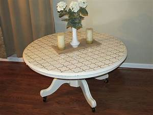 Distressed white round coffee table dwelling for Round weathered coffee table