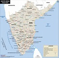 South India Road Map, Road Map of South India