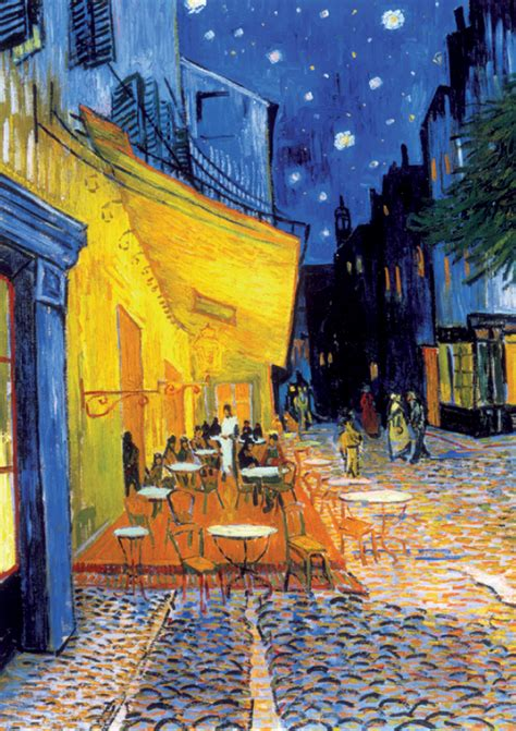 cafe terrace at colors and subconcious influence from vincent