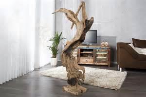 wanddeko fã r wohnzimmer wohnzimmer deko kaufen natur skulptur reef treibholz teak 130 cm baumstamm f r wohnzimmer