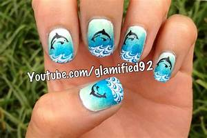 glamified92: Dolphin in waves nails