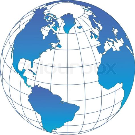 foto de Globe icon with vector of the world Stock Vector Colourbox