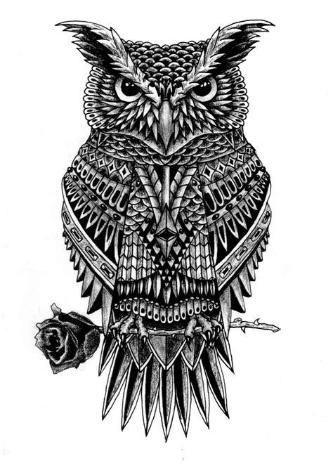 Ornate Owl on Behance | Owl tattoo drawings, Owl tattoo design, Geometric owl