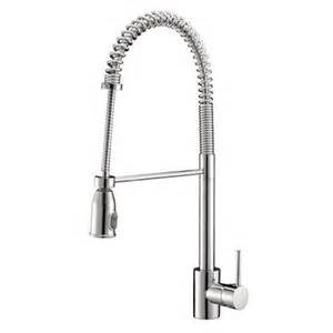 commercial kitchen faucets for home ruvati rvf1215 cascada commercial style pullout spray kitchen faucet atg stores