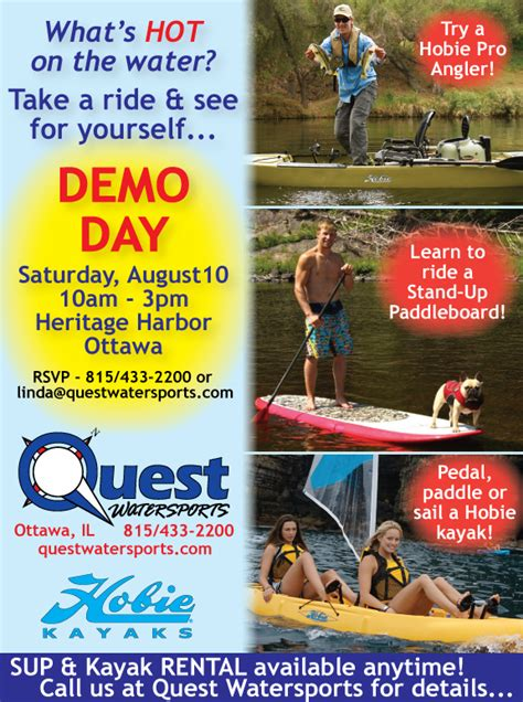 Quest Boat Club Road by Quest Test Drive A Hobie Kayak Or Stand Up