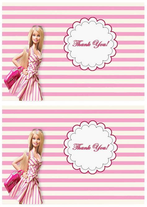 barbie   cards birthday printable