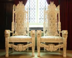 wedding chairs for and groom posh chair covers and bows and groom wedding throne hire