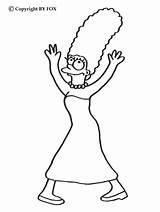 Coloring Marge Simpsons Dancing Hellokids sketch template