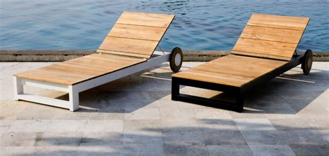 Patio Loungers On Sale by Modern Teak Black White Aluminum Chaise Lounger Contract