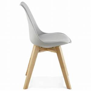 Chaise Moderne Style Scandinave SIRENE Gris