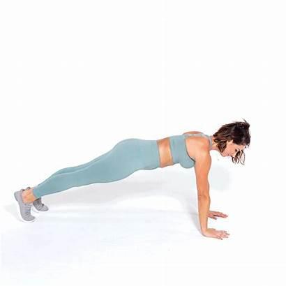 Plank Waist Exercises Kick Tone Through Workout