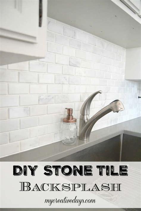 Kitchen Makeover Diy Stone Tile Backplash My Creative Days