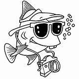 Fish Tourist Coloring Pages Tropical Printable Toddler Freshwater sketch template