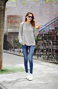 Womenu0026#39;s Outfit Ideas With White Sneakers 2018 | FashionTasty.com