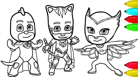 PJ Masks Minions Coloring Pages Colouring Pages for Kids