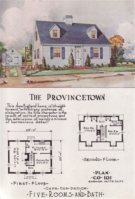 tiny cape  center hall mid century cottage style nationwide house plan service
