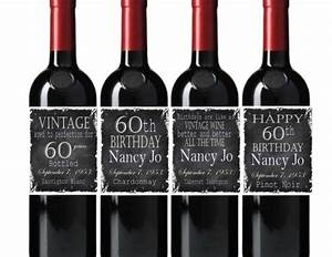 happy birthday wine bottle labels vintage chalkboard you With customized wine bottle labels free