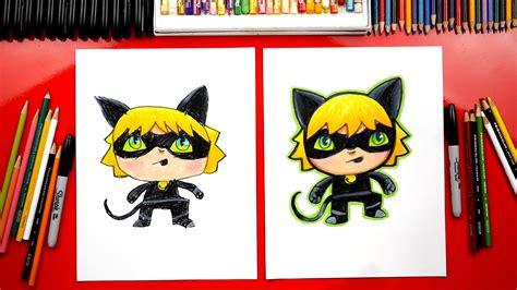 draw cat noir  miraculous ladybug art