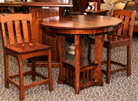 cherry wood pub table set amish dining set 090 the amish connection solid wood
