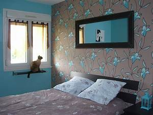 stunning chambre taupe et turquoise gallery design With chambre bleu turquoise et taupe