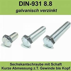 M10 Schraube Durchmesser : m10 din 931 sechskant schrauben mit schaft 8 8 verzinkte maschinen iso 4014 m10x ebay ~ Watch28wear.com Haus und Dekorationen