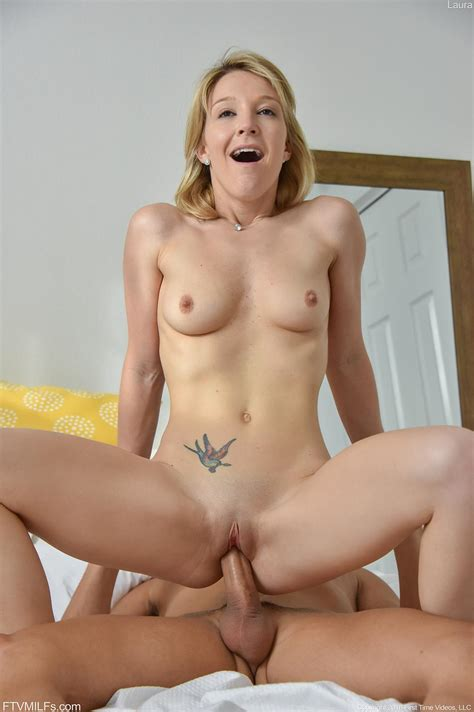 Blonde Girl Laura Gets Her Tight Pussy Fucked And Filled