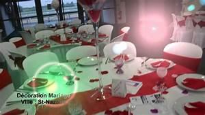 Décoration Mariage Rouge Et Blanc : abm d coration th me mariage rouge et blanc youtube ~ Melissatoandfro.com Idées de Décoration