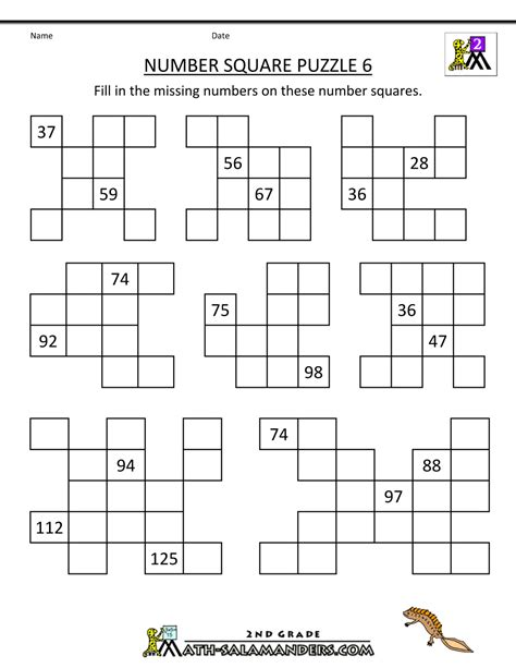 number square puzzles