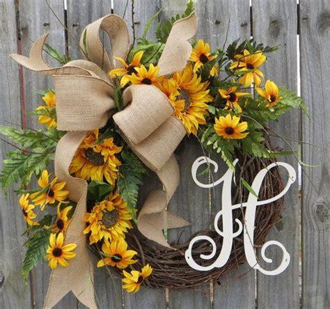 spring summer wreath wreath  spring summer burlap sunflower wreath burlap spring