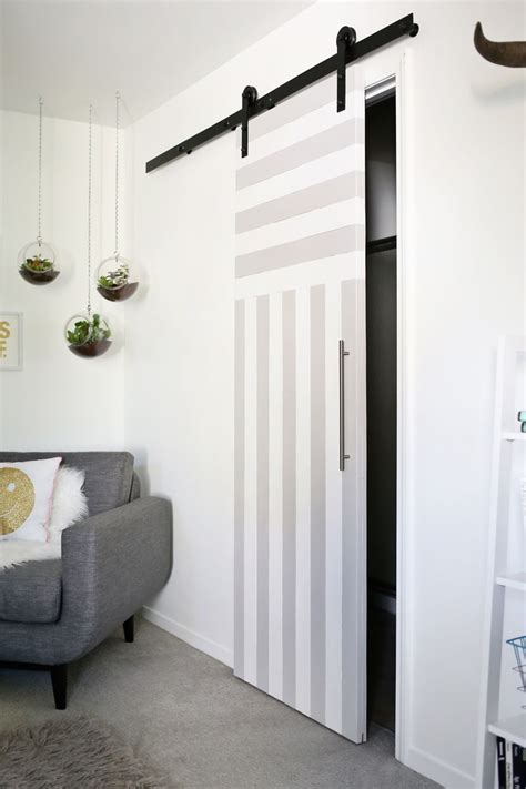 sliding door solution  small spaces  beautiful mess
